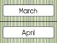 Green Stripe Calendar Pieces