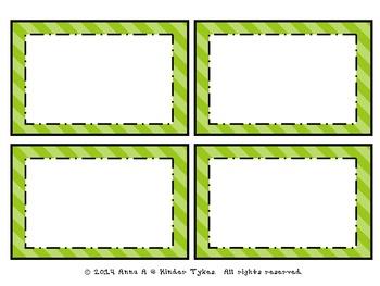 Green Stripe Labels by Kinder Tykes