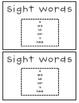 Green Things Sight Word Practice {Freebie}