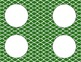Green Tile Chevron Classroom Labels and Tags