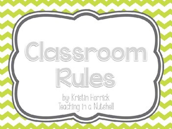 Green and Blue Classroom Rules