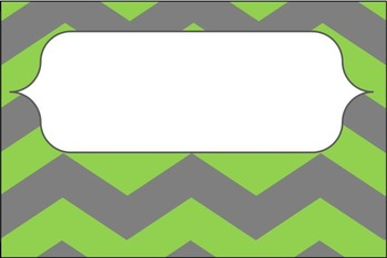 Green and Gray Chevron Labels