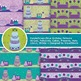 Green and Purple Birthday Digital Paper - 10 Handmade Birt
