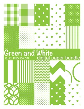 Green and White Digital Paper