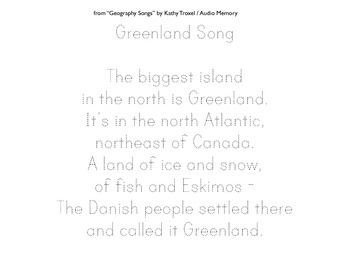 Greenland Song Lyrics Printing Practice and Bubble Letters