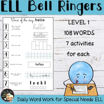 EFL-ESL Bell Work - Yearlong Bundle