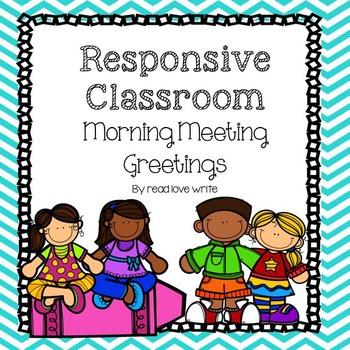 Greetings for Morning Meetings, Circle Time