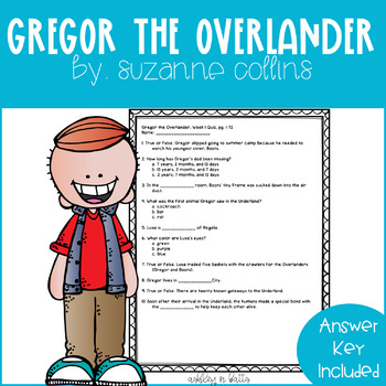Gregor the Overlander Comprehension Quiz Checks