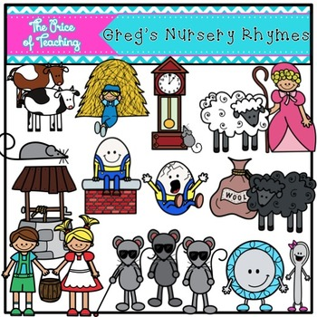 Greg's Nursery Rhyme Clipart Set