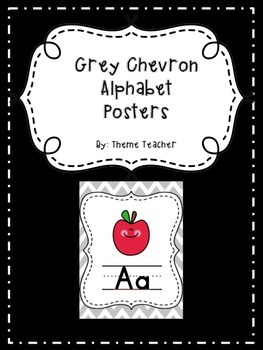 Gray Chevron Alphabet Posters