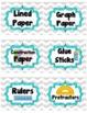 Gray Chevron Classroom Supply Labels