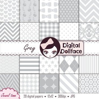 Grey Digital Background Papers / Neutral, Grayscale Patterns