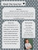 Grey Polkadot Meet The Teacher Template **Editable**