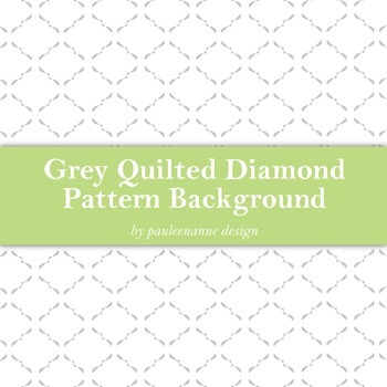 Grey Quilted Diamond Pattern Background