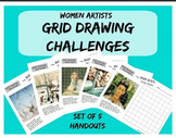 Grid Drawing Challenge - Women Artists Art Worksheets - Se