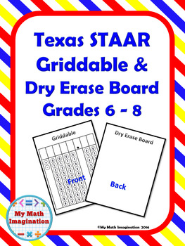 Griddable & Dry Erase Board Grade 6 - 8 STAAR Test