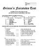 Grimm's Fairytales Comprehension Test + Mini Lesson & Handout