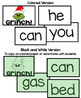Mr Mean Green Xmas Rapid Pace Sight word Game: Reading Str