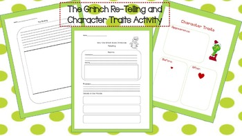 Grinch Re-Telling and Character Traits Activity