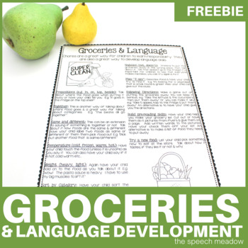 Groceries and Language: Using Groceries to help foster lan