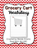 Grocery Cart Vocabulary