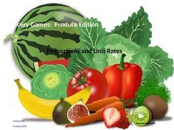 Grocery Games:  Produce Edition - Proportions and Unit Rat