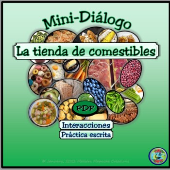 Grocery Shopping Mini-Dialogue / Diálogo en la tienda de c