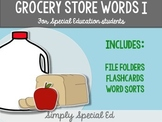 Grocery Words I: For Special Education Students