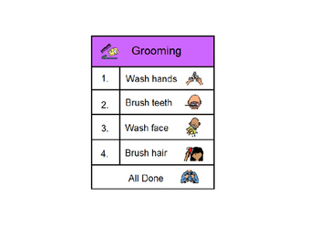 Grooming Task Strip