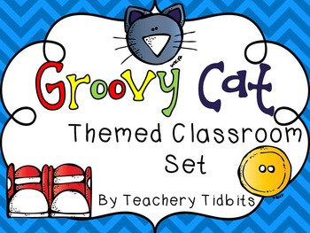 Groovy Cat Themed Classroom Set {EDITABLE}