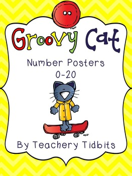 Groovy Cat Themed Number Posters 0-20