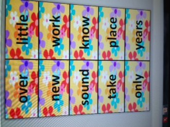 Groovy Flower Sight Words