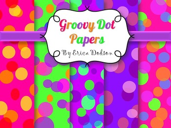 Neon Dots Background Papers