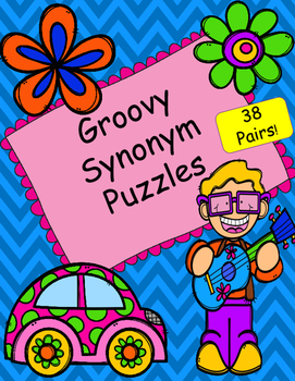 Groovy Synonym EASY CUT Matching Puzzles