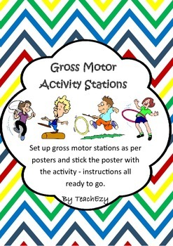 Gross Motor Station Posters