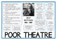 Grotowski POOR THEATER / POOR THEATRE Drama Practitioner Poster