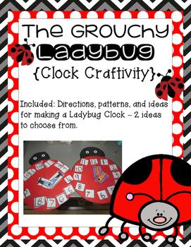 Grouchy Ladybug Clock Craftivity!