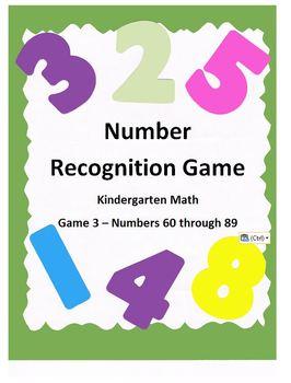 Kindergarten Math Number Recognition Game 3