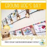 Ground Hog's Day Writing Activity & Geometric Craft