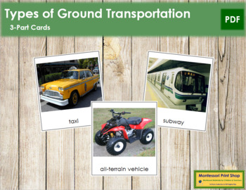 Ground Transportation: 3-Part Cards