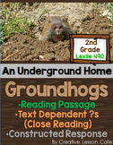 Groundhog Close Reading- Informational Text and Text-Based