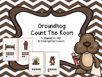 Groundhog Count The Room Ten Frames 1-20