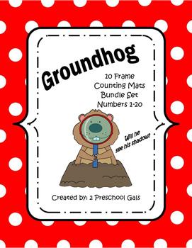 Groundhog Day 10 Frame Counting Mats Bundle Set (1-20)
