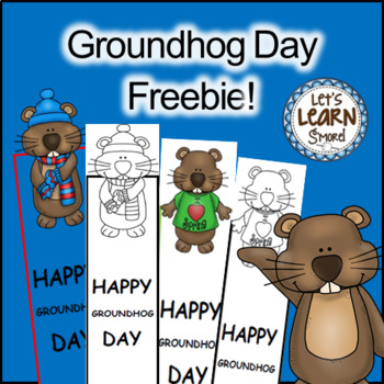 Groundhog Day - Free  Bookmarks for February Activities