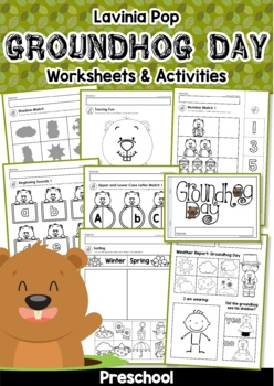 Groundhog Day Preschool No Prep Worksheets Activities