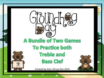 Groundhog Day - A Bundle of 2 Games to Practice Treble and
