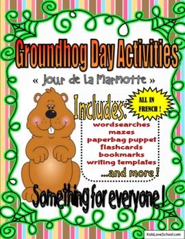 """Groundhog Day Activities-In French! --""""Jour de la Marmotte"""""""