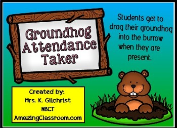 Groundhog Day Attendance Taker Promethean ActivInspire Flipchart