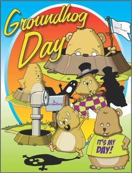 Groundhog Day Clip Art for Groundhog Day Activities on Feb