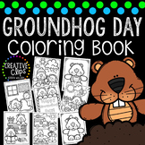 Groundhog Day Coloring Book {Made by Creative Clips Clipart}